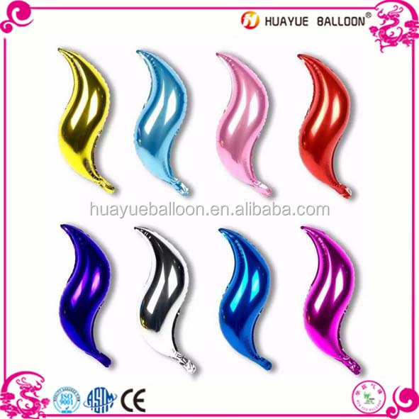 18 inch S shape foil mylar balloon for party wedding decoration