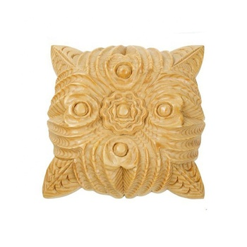 hand carving home decorative antique wood onlays
