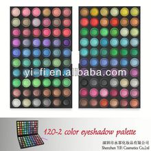 Hot selling! 120 -2 color eyeshadow palette red eye shadow