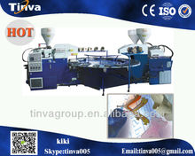 China Ruian Full automatic multi-functional TPR PVC Plastic Sole blowing injection moulding machine