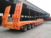 3 axles low bed semi trailer truck and trailer price for sale