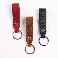 horse leather car key chain pendant cowhide leather decorative unisex individuality creative key chain
