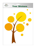 Autumn tree sticker self adhesive wall decal decarative sticker