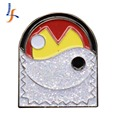 Wholesale High Quality custom souvenir emblem glitter captain lapel pin badge
