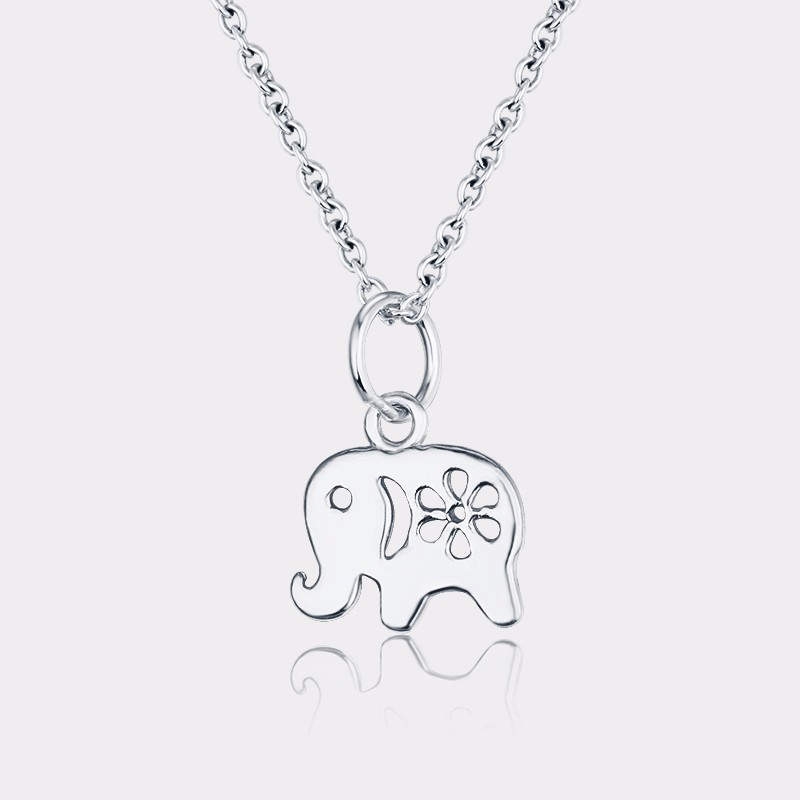 Silver bracelets necklace designs hollow elephant jewelry wholesale thailand