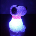 EVA crystal color changing dog night light