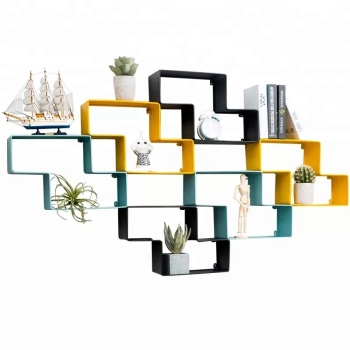 2019 Home decoration metal wall hanging shelf wall supporter
