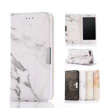 Artistic Marble Pattern PU Leather Case with Credit Card Slot Magnetic Closure Flip Wallet Cover Phone Case for iPhone 7plus