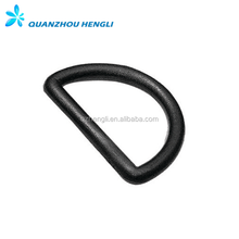 Metal Plastic D Ring Buckle For Dogs Collars