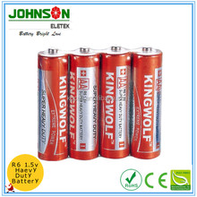 AA um-3 R6p non-rechargeable 1.5v heavy duty zinc carbon dry cell battery manufacturer