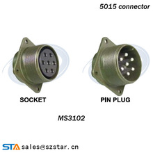 MIL-DTL-5015 Hermetic Connector,PCB Air-Tight-Seal cable connector,ms3102A18-3 2pin connector
