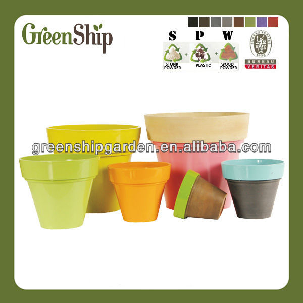 Decorative Shiny flower pot painting designs/ long liftetime/patented products/eco-friendly