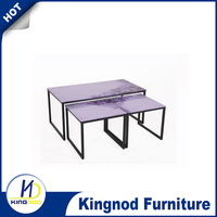 Top Quality with metal structure tempered glass coffee table