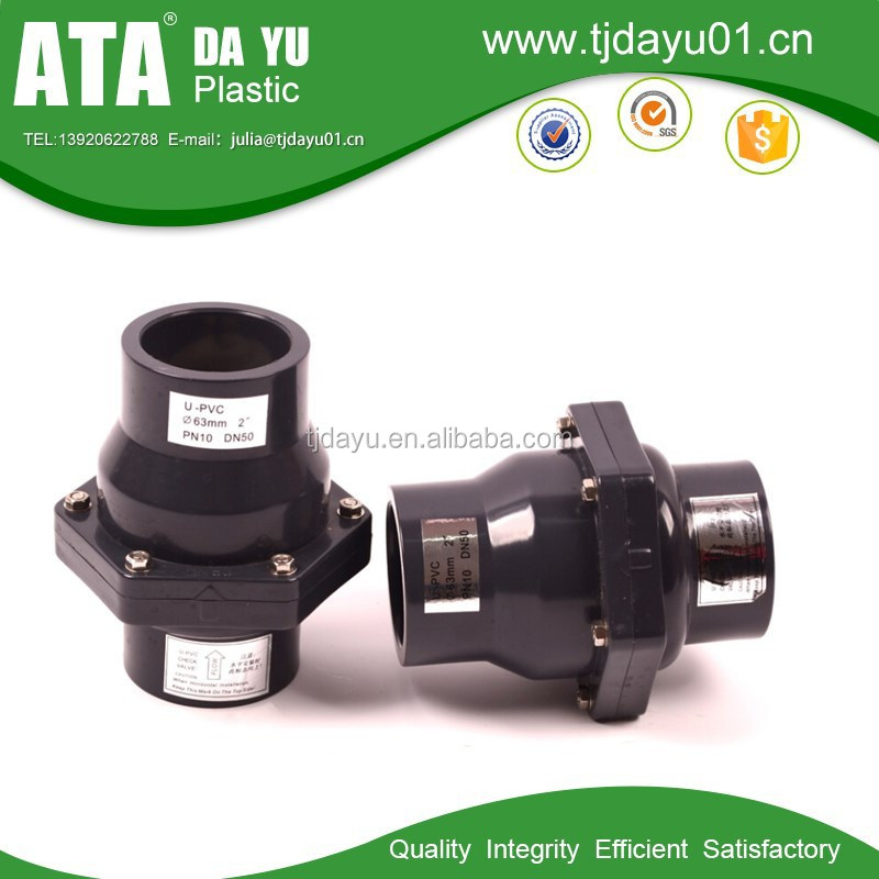 DIN/ANSI/BSPT swing check valves socket or thread end
