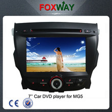 7Inch double din in dash cheap car dvd player with GPS navigation/radio/bluetooth/ipod use/ steering wheel control fit for MG5