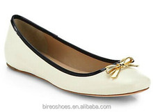 Beautiful White flat shoes for ladies 2014