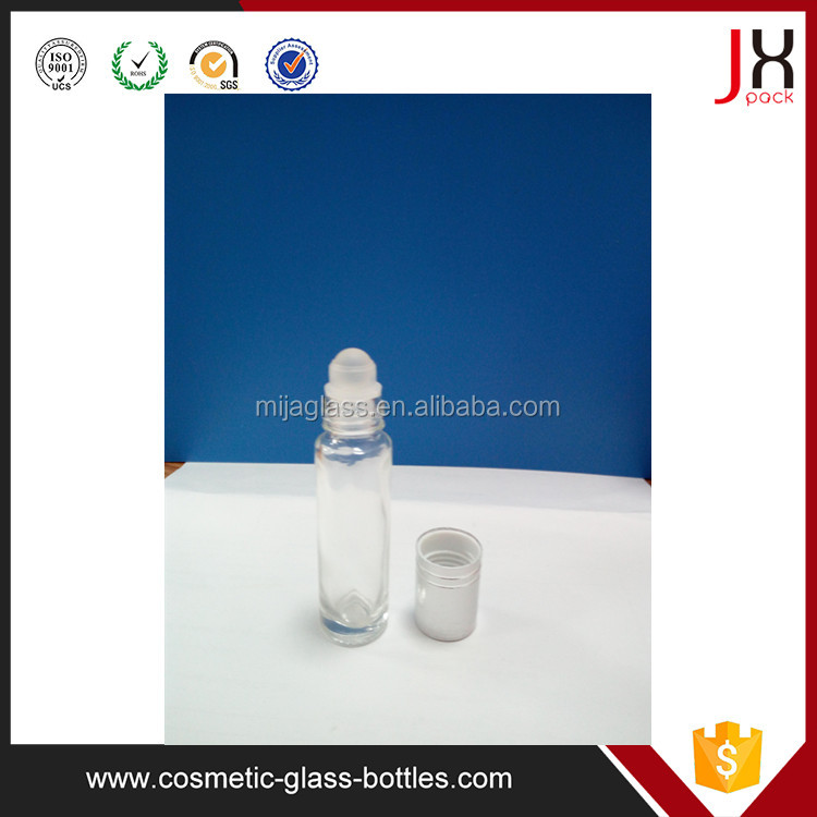 Amber Essential Oil Glass Bottles with Roll On Inserts Cosmetic Packaging
