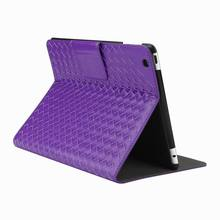 Hand knitting stand tablet leather case for iPad 2 3 4