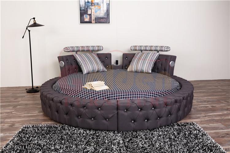 Muebles de dormitorio moderno diseños king size cama redonda precio ...