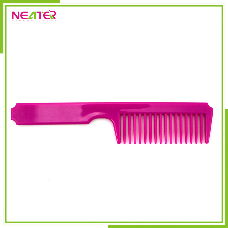 custom cheap and long handle durable large plastic hair combs