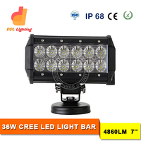 Crees light bars led truck auto lighting double row mini size 7inch 36W hot selling in US market truck car accessories auto part