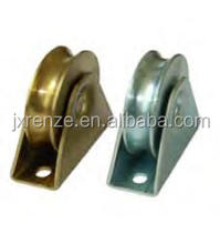 lower rollers for sliding gate, with bracket, single bearing, U groove, RZT1U