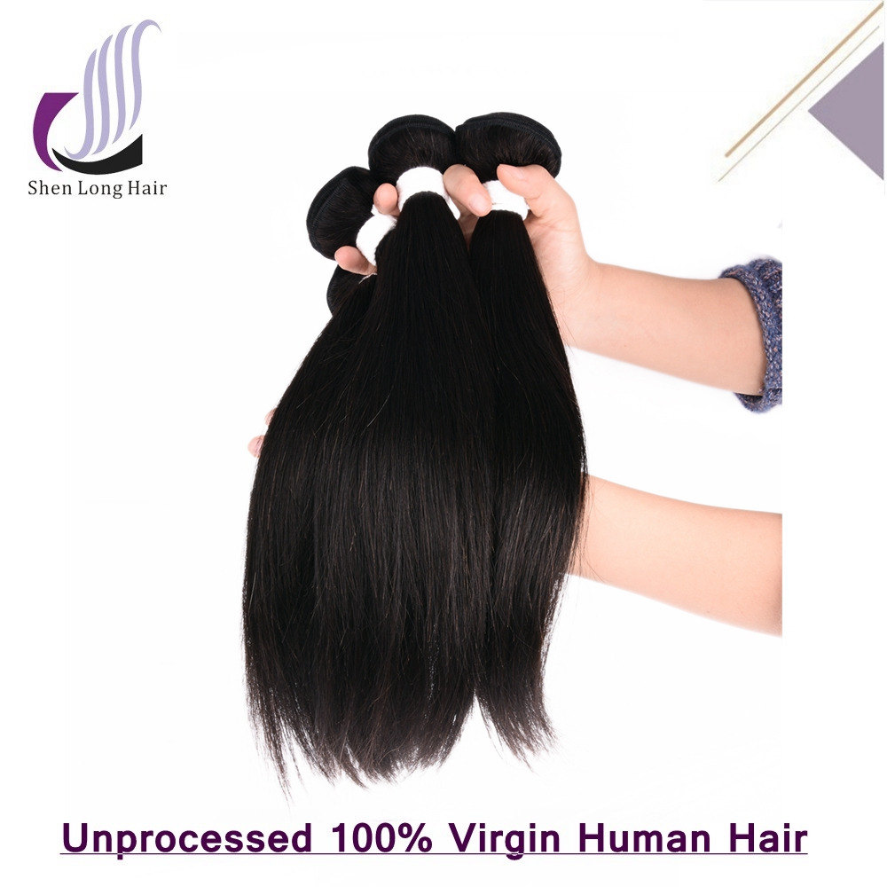 Factory Wholesale Tangle Free Silky Straight Human Hair Grade 7A Virgin Brazilian Hair