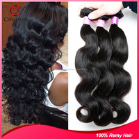 Wholesale 100% Unprocessed Virgin indian hair/Malaysian Hair/18inch brazilian hair extension