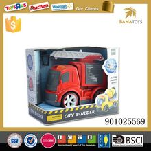 Friction mini fire truck toy