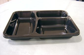 Airline meal tray Disposable plastic sushi tray Divided food tray TY-0014