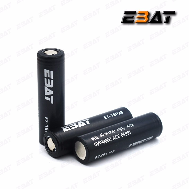 EBAT black imr 1865 3.7v 2900mah 30A 18650 battery cells 18v dewalt