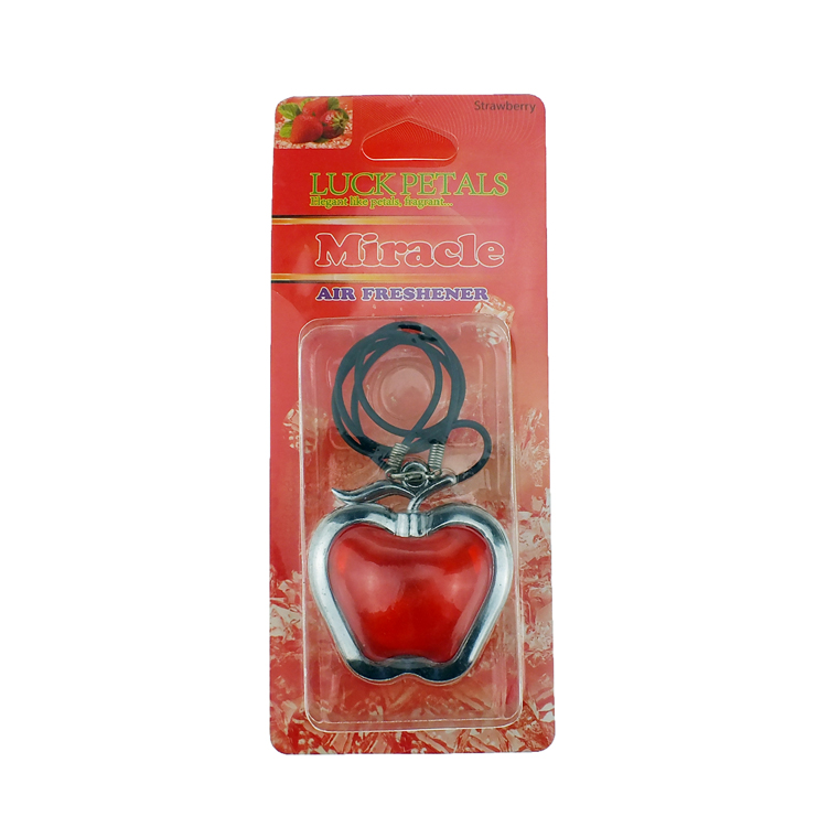 love shape hanging car membrane Air Freshener with Strawberry scent