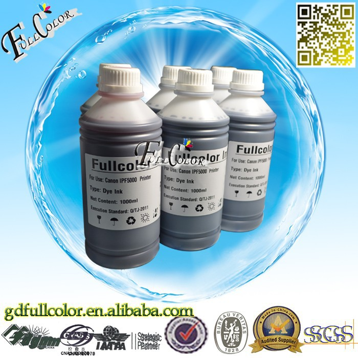 <strong>K</strong> C M Y PC PM Professional Dye ink for W7200 W8200 W8400 Inkjet Printer