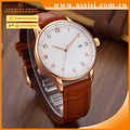 OEM watch manufacturer mens leather strap quartz stainless steel back watch