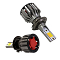 Newest H1 H4 H7 H8 H11 COB led chip auto dual color car led light h7 dual 48w 5600lm car led headlight