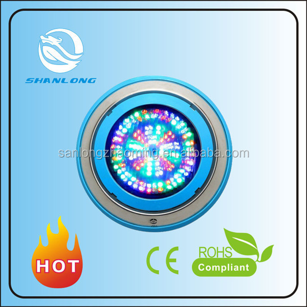 LED swimming pool light,Ultra thin concrete/fiberglass niche LED underwater light