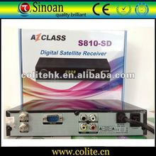 Azclass S810 Sd Instead of Evo Xl,Support Nagra2/Dongle/Amazonas W61.0 Satellites