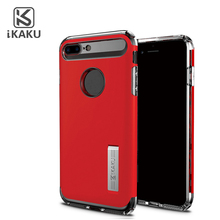 Two in one tpu pc fundas de celular shockproof case for huawei p8 honor 7 ascend g7 y6 p9 plus