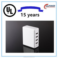 UL FCC Multi 4 port desktop smart usb phone charger