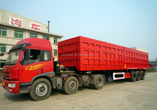 China OEM HIgh Quality 200 ton 3 Axle 12 Wheel Dump Trailer with Gooseneck