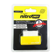 Green NitroOBD2 for Benzine cars is a Plug & Drive Ready device to function the increasing the performance of engine OBD2 Chip