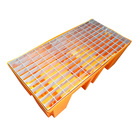 2 drum spill secondary containment orange with hot galvanizing grating