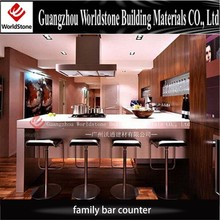 acrylic solid surface family bar counter home bar counter