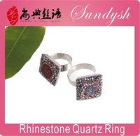 Stone Ring Fashion Designer Ring Rhinestion Quartz Woman Rings