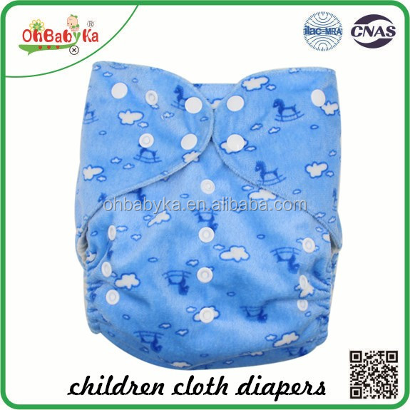Ohbabyka double gussets suit more than 15 kg baby Washable Big Size Baby Diapers