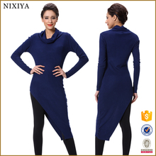 Cheap Price Long Sleeves Blue Sweater Dress for Women