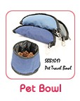 Folding fabric Pet food bowl collapsible dog bowl