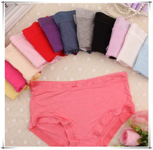Freeshipping moq.30pcs sorted solid colors bamboo fabric material women's briefs