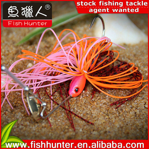 Wholesale metal Fishing lures 3D eye <strong>Q13</strong>-R01-7 spinner bait 7g fishing gear