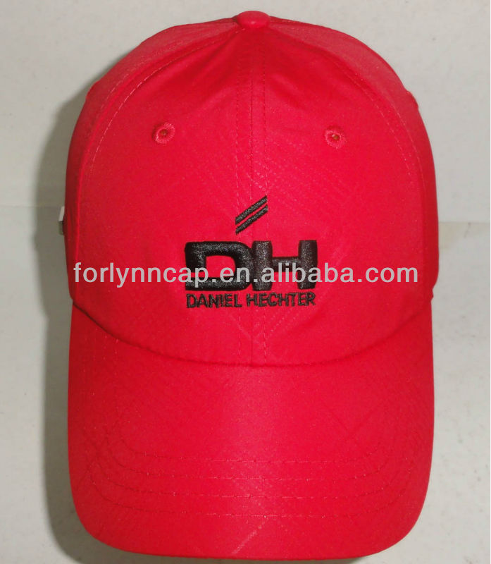 New style Best selling Custom embroidery Red 100% polyester running cap/baseball cap